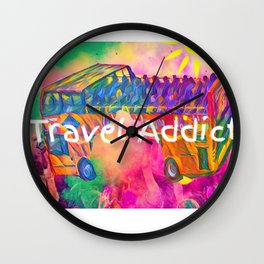 travel addict Wall Clock