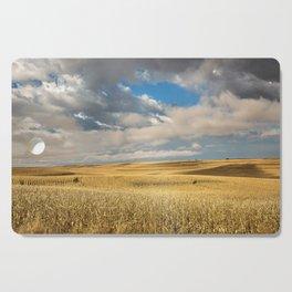 Iowa in November - Golden Corn Field in Autumn Cutting Board