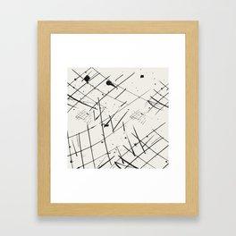Grid + Splat Framed Art Print