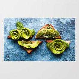 Avocado Foodie Art Rug
