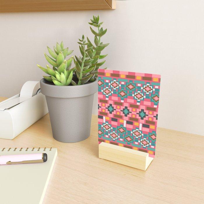 Multicolored joyful shapes Mini Art Print