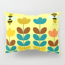 Flowers with bees Pillow Sham