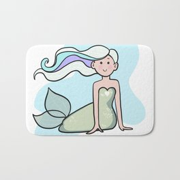 Happy Mermaid Bath Mat