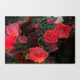 Forever red roses Canvas Print