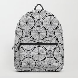 For the Love of Cycling Pattern - Grey Black Backpack