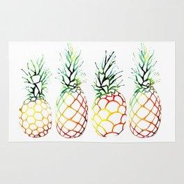 Retro Pineapples Rug