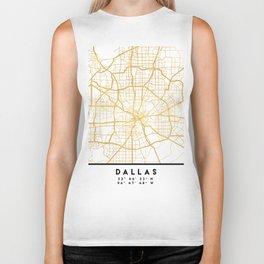 DALLAS TEXAS CITY STREET MAP ART Biker Tank