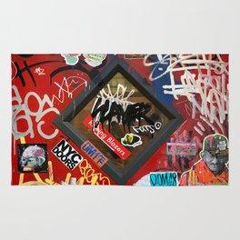 New York City Door Graffiti Rug