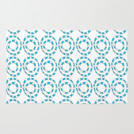 Circle and abstraction 8- blue abstract,geometric,geometrical,circle,sphere Rug