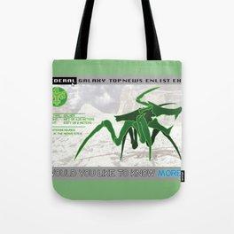 Starship Troopers Warrior Bug Tote Bag