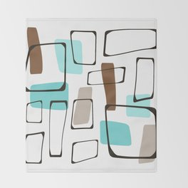 Midcentury Modern Shapes Throw Blanket