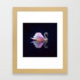 Swan Lake Galaxy Framed Art Print