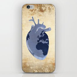 The earth is our heart - EARTH DAY '16 - all artist profits to be donated iPhone Skin