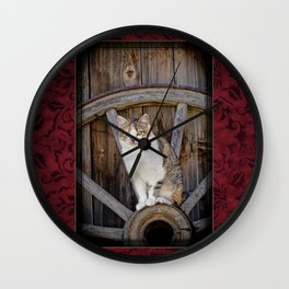 Rustic Ruby Wall Clock
