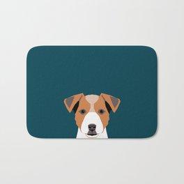 Bailey - Jack Russell Terrier phone case art print gift for dog people Jack Russell Terrier owners Bath Mat