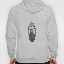 Medical Snake Eagle Feather Drawing Hoody