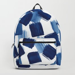 Indigo Brush Strokes   No.1 Backpack