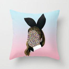 Bunny Girl Throw Pillow
