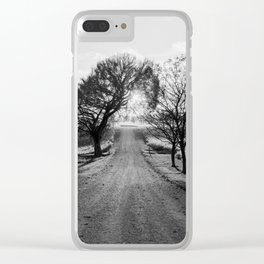 Best Farm Tree Backlit In The Fall Clear iPhone Case