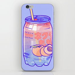 Peach Bubbles iPhone Skin