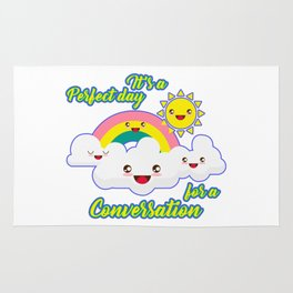 Perfect Conversation Day Rug
