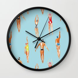 swimmer pattern Wall Clock