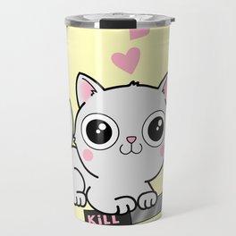 Kitty Hearts Kill - Cats Love Plotting Travel Mug