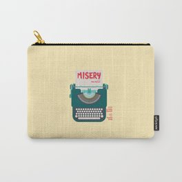 Misery, Horror, Movie Illustration, Stephen King, Kathy Bates, Rob Reiner, Classic book, cover Carry-All Pouch