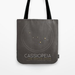 Cassiopeia - The Seated Queen Constellation Tote Bag