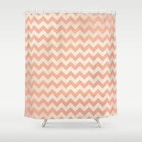princess peach Shower Curtains featuring Peach by C Designz