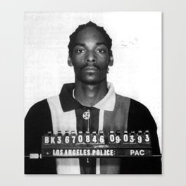 Snoop Dogg Mug Shot Canvas Print