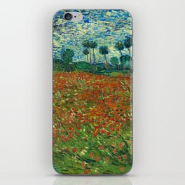 Vincent Van Gogh Poppy Field iPhone Skin
