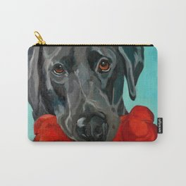 Ozzie the Black Labrador Retriever Carry-All Pouch