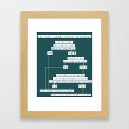 The Smiths Lyric Flowchart That Joke Isn't Funny Anymore Framed Art Print