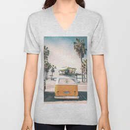 Surf Van Venice Beach California Unisex V-Neck