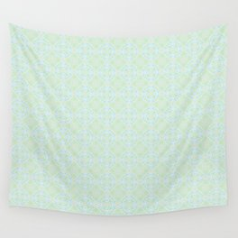 Blue and Yellow and Green Pattern 3 Wall Tapestry