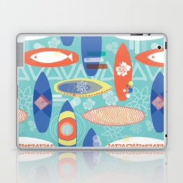 Vintage Surfboards Pattern Laptop & iPad Skin
