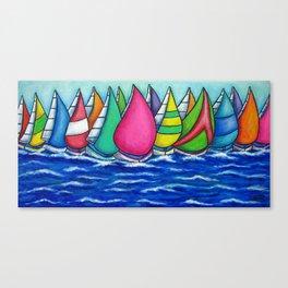 Rainbow Regatta Canvas Print