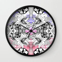 Rorshach 3 Wall Clock