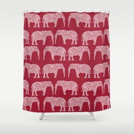 Alabama Bama Crimson Tide Elephant State College University Pattern Footabll Shower Curtain