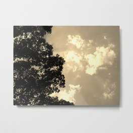 Dusk Luminescent Clouds Metal Print