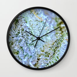 Blanket of Trichomes Wall Clock