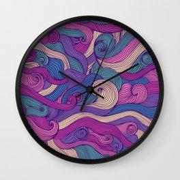 Purple metamorphoses Wall Clock