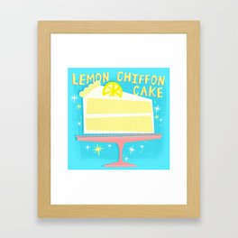 All American Classic Lemon Chiffon Cake Framed Art Print