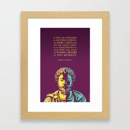 Marcus Aurelius quote: The Power to Revoke Framed Art Print