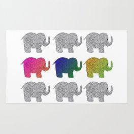 Nine Elephants Rug