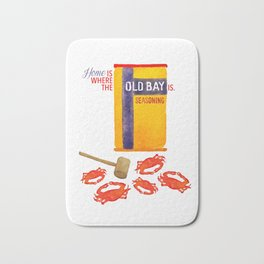 Home is where the Old Bay is. Bath Mat