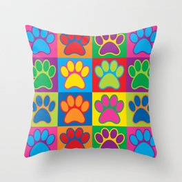 Pop Art Paws Throw Pillow