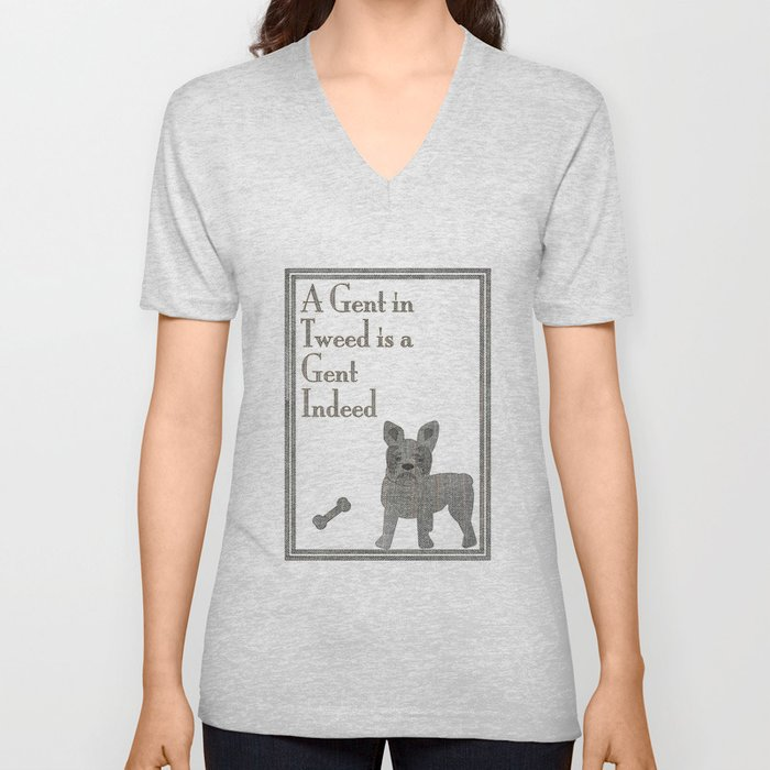A Gent in Tweed is a Gent Indeed Unisex V-Neck