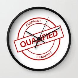 Qualified Feminist Wall Clock